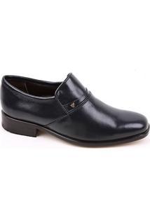 Sapato Calvest Esporte C62637 Couro Marinho