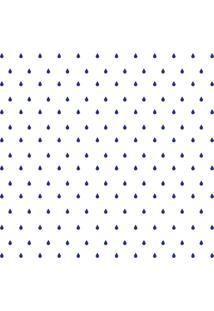 Adesivo De Parede Gotinhas Azul-Escuras Para Quarto 151Un Cobre 3M2 - Azul - Dafiti