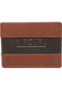 Carteira Couro Rip Curl Boss Rfid All Day Caramelo