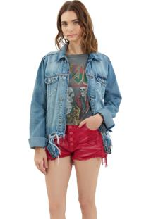 Jaqueta John John Jamena Jeans Azul Feminina (Jeans Medio, M)