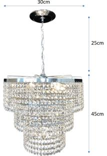 Lustre Pendente De Cristal Legítimo K9 Lina Design Ac58 - Kanui