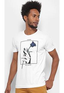 Camiseta Forum Rose Masculina - Masculino-Branco