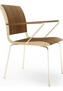 Cadeira Com Braço Falx Madeira Maciça Jequitibá Coleção Bari Tremarin Design By Fernando Sá Motta
