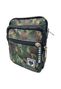 Shoulder Bag Bezz Mini Bolsa Tira Colo Necessaire Pochete Unisexx Verde Militar