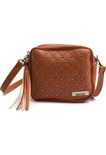 Bolsa Transversal Maria Milão Mini Bag Matelassê Caramelo
