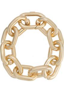 Jack Vartanian Pulseira 'Chain G' Prata Com Banho Ouro 18K - Dourado
