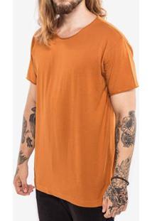 Camiseta Hermoso Compadre Rasgada Masculina - Masculino-Mostarda