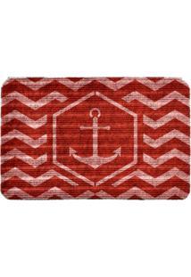 Capacho Carpet Âncora Vermelho Único Love Decor