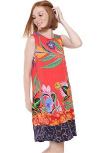 Vestido Desigual Curto Elena Vermelho