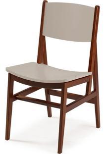 Cadeira Dumon Cor Cacau Com Bege - 30782