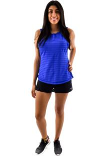 Regata Rich Young Fitness Azul Shorts Saia Fitness Preto