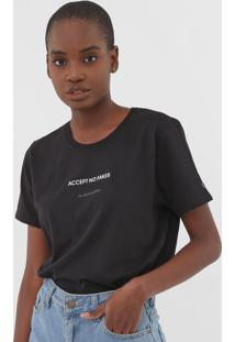 Blusa Calvin Klein Jeans Accept No Fakes Preta - Preto - Feminino - Algodã£O - Dafiti