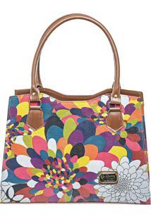 Bolsa Gc Gouveia Costa Quadrada Multicolorido