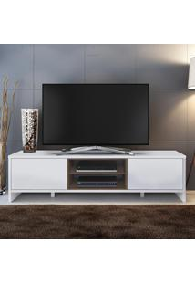 Rack Para Tv 2 Portas Sydney Branco/Rustic - Madesa