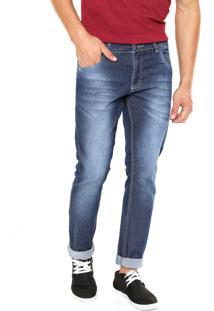 Calça Jeans Fiveblu Slim Nashville Azul