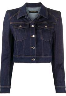Dolce & Gabbana Jaqueta Jeans Cropped Estruturada - Azul