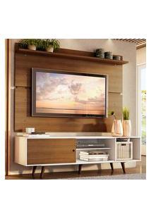 Rack Madesa Dubai E Painel Para Tv Até 65 Polegadas Com Pés - Branco/Rustic 9B5Z Branco