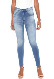 ... Calça Jeans Biotipo Skinny Melissa Azul 1012e93c2f7