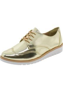 Sapato Feminino Oxford Ramarim - 1690202 Dourado