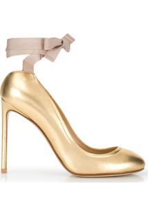 7f721a73af Sapato Dourado feminino