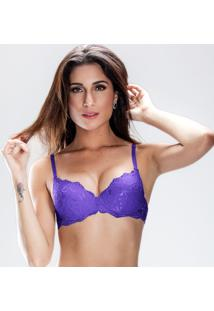 Sutiã Push Up Em Renda Duloren - Feminino-Violeta