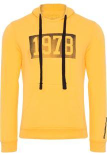 Casaco Masculino Capuz Estampa Vintage 1978 - Amarelo