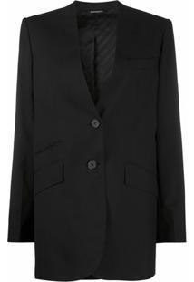 Givenchy Blazer Abotoamento Simples Sem Lapela - Preto