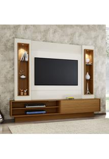 Painel Para Tv Tb129L Com Led Off White/Freijo - Dalla Costa