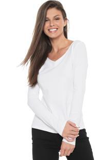 Blusa Cativa Decote V Branca