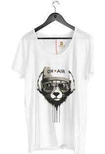 Camiseta Corte À Fio Joss On Air Masculina - Masculino-Branco