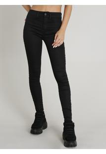 4419399fc ... Calça Feminina Super Skinny Energy Jeans Preta