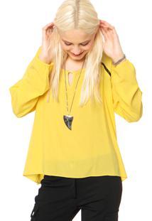 Camisa Bloom Detalhes Amarela