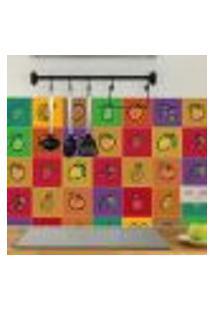Adesivo De Azulejo Cozinha Frutas Coloridas 10X10 Cm 100Un