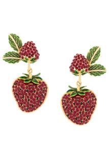 Dolce & Gabbana Par De Brincos 'Orecchini Frutti' - Estampado
