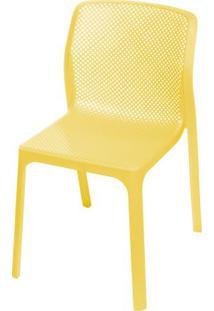 Cadeira Bit Nard Empilhavel Polipropileno Amarela - 53559 - Sun House