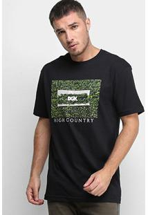 Camiseta Dgk High Country Masculina - Masculino-Preto