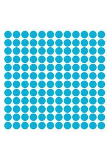 Adesivo De Parede Bolinhas Azul Celeste 144Un