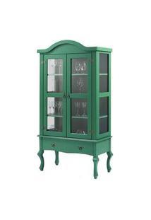 Cristaleira Versalhes 2 Portas E 1 Gaveta Cor Verde 192 Cm - 63701 Verde