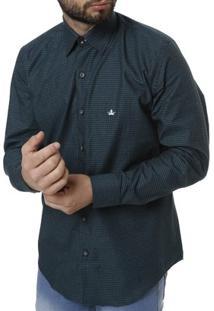 Camisa Manga Longa Masculina - Masculino-Verde