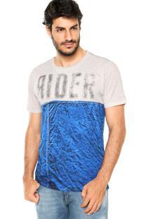 Camiseta Guess Rider Bege/Azul