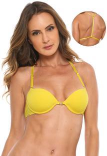 Sutiã Morena Rosa Meia-Taça Nadador Amarelo