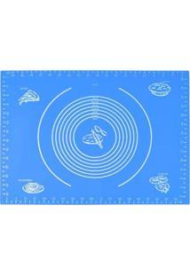 Tapete Em Silicone Com Medidas Azul M 30 X 40 Cm