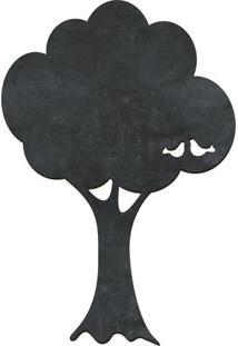 Quadro Decorativo Lousa De Giz Árvore- Preto- 40,5X2Cia Laser