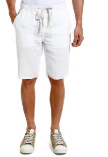Bermuda John John Straight Singapura Sarja Off White Masculina Be Straight Singapura-Off White-46