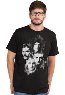 Camiseta Bandup! Queen Faces - Masculino-Preto