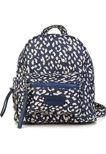 Bolsa Anacapri Mini Bag Med Lona Animal Print Onça Feminina - Feminino-Jeans