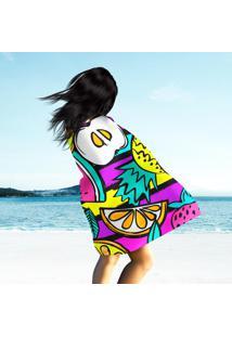 Toalha De Praia / Banho Multi Happy Color