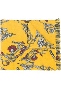 Escada Sport Floral Print Scarf - Amarelo
