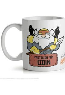 Caneca Usq Protegido Por Odin Geek10 Branco