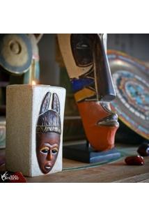 Porta-Vela Máscara Africana